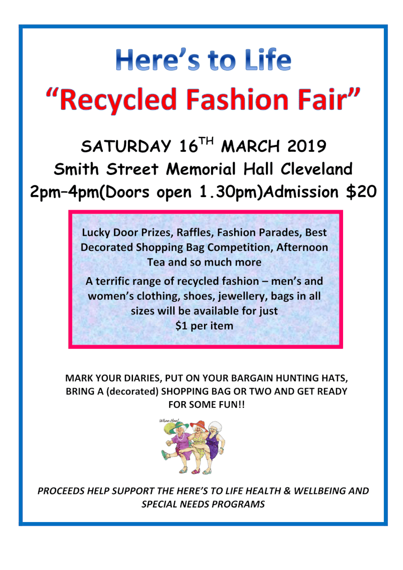 recycled fashion flyer